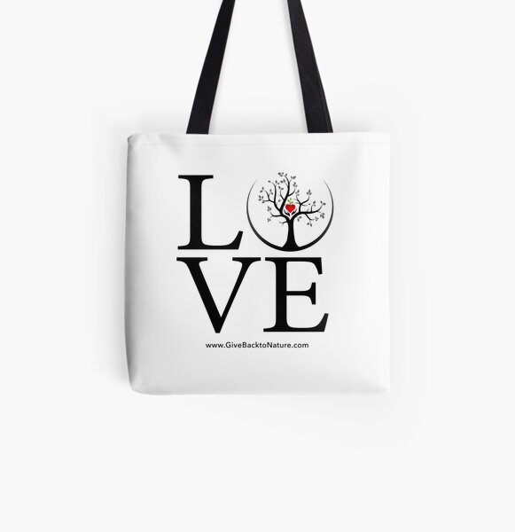 Love Logo - Give Back to Natu All Over Print Tote Bag