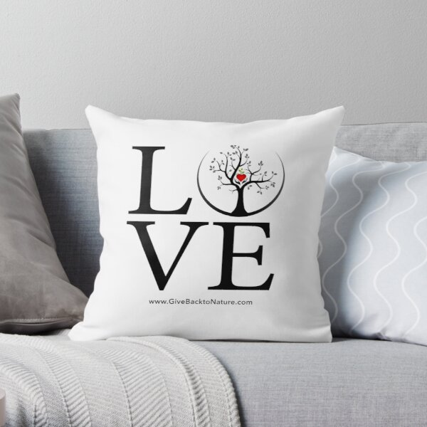 Love Logo - Give Back to Natu Throw Pillow