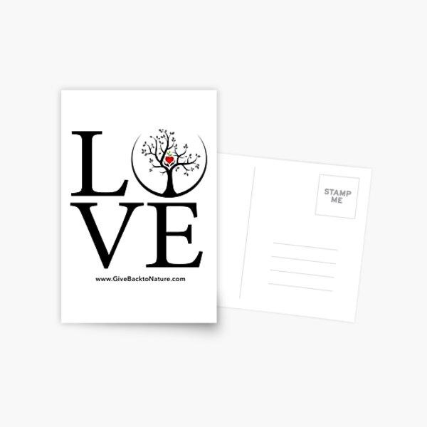 Love Logo - Give Back to Natu Postcard