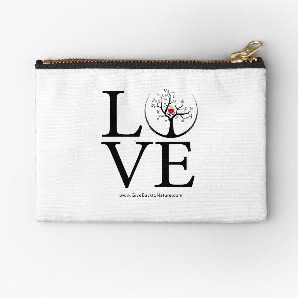 Love Logo - Give Back to Natu Zipper Pouch