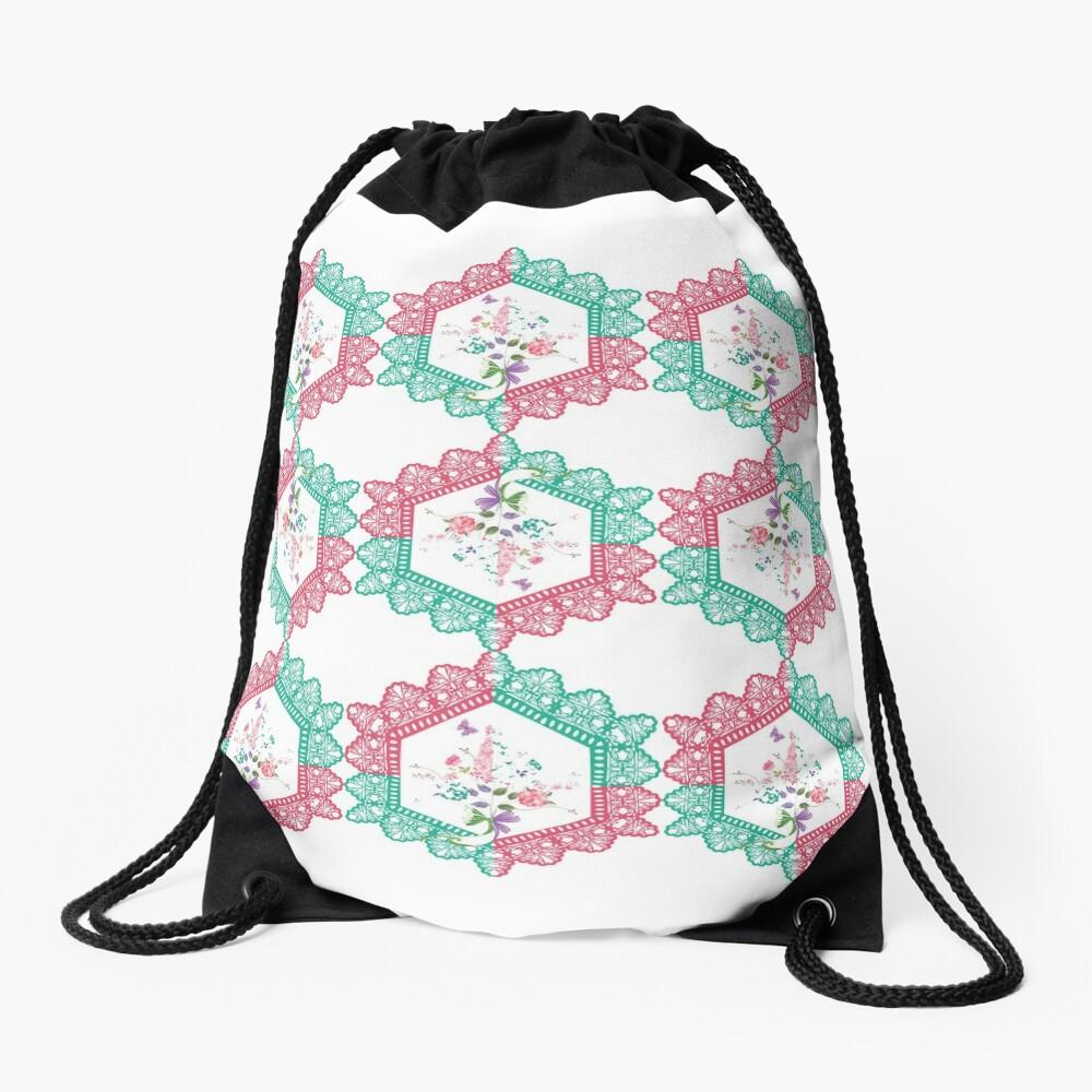 Embroidery, Motif, Visual arts Drawstring Bag