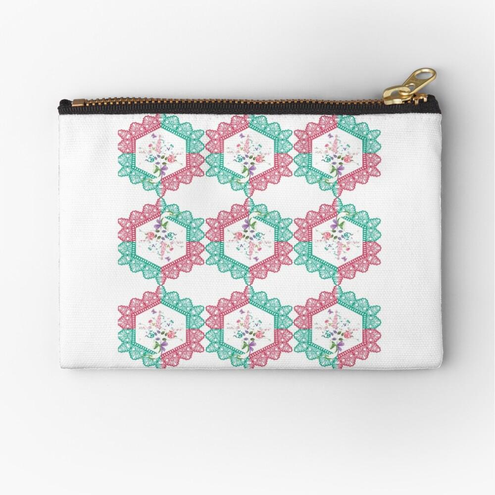 Embroidery, Motif, Visual arts Zipper Pouch