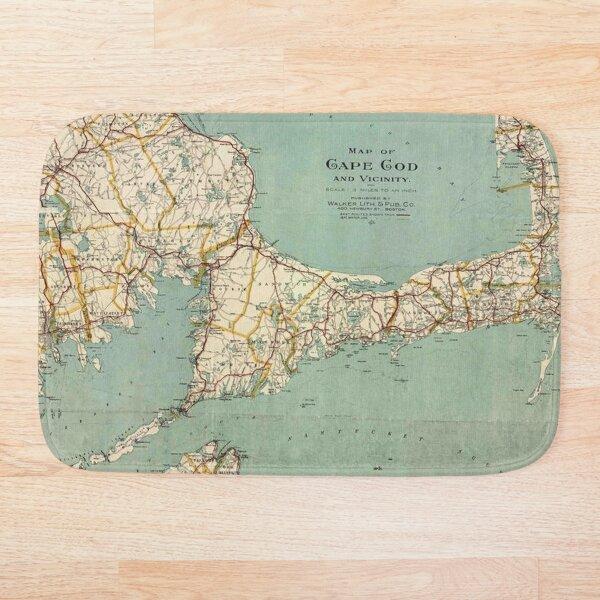 Cape Cod Map Bath Mat