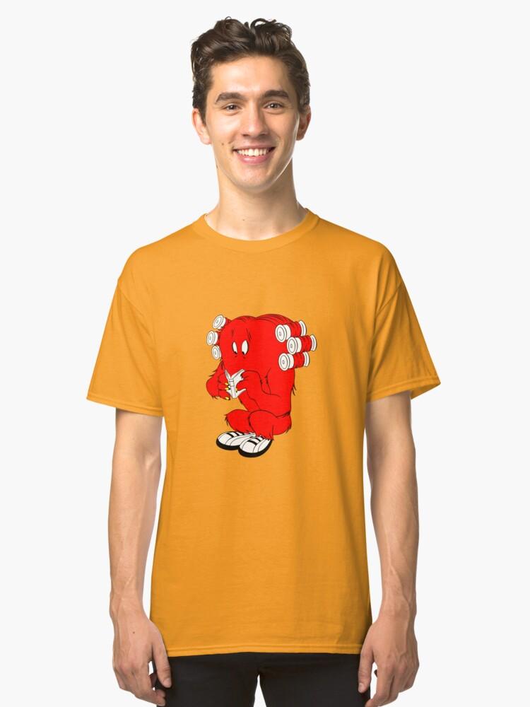 Gossamer reading  full color geek funny nerd Classic T-Shirt Front