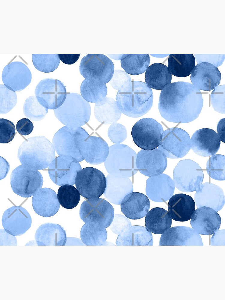 Watercolor Circles - Blue by annieparsons