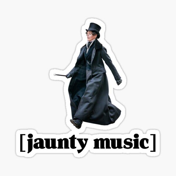 Jaunty Music - Black Font Sticker