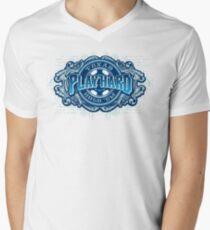 PLAY HARD Mens V-Neck T-Shirt