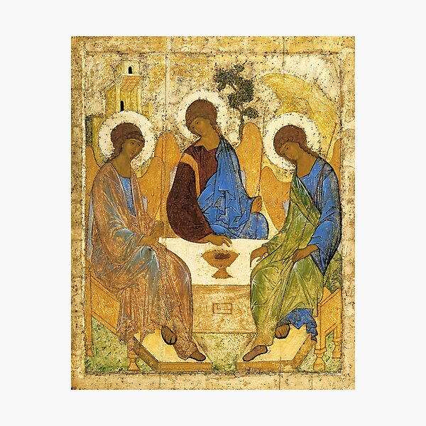 The Holy Trinity Painting Andrei Rublev Hospitality Of Abraham 1411 Photographic Print