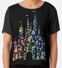 Happiest Castle On Earth (Rainbow Explosion) Chiffon Top