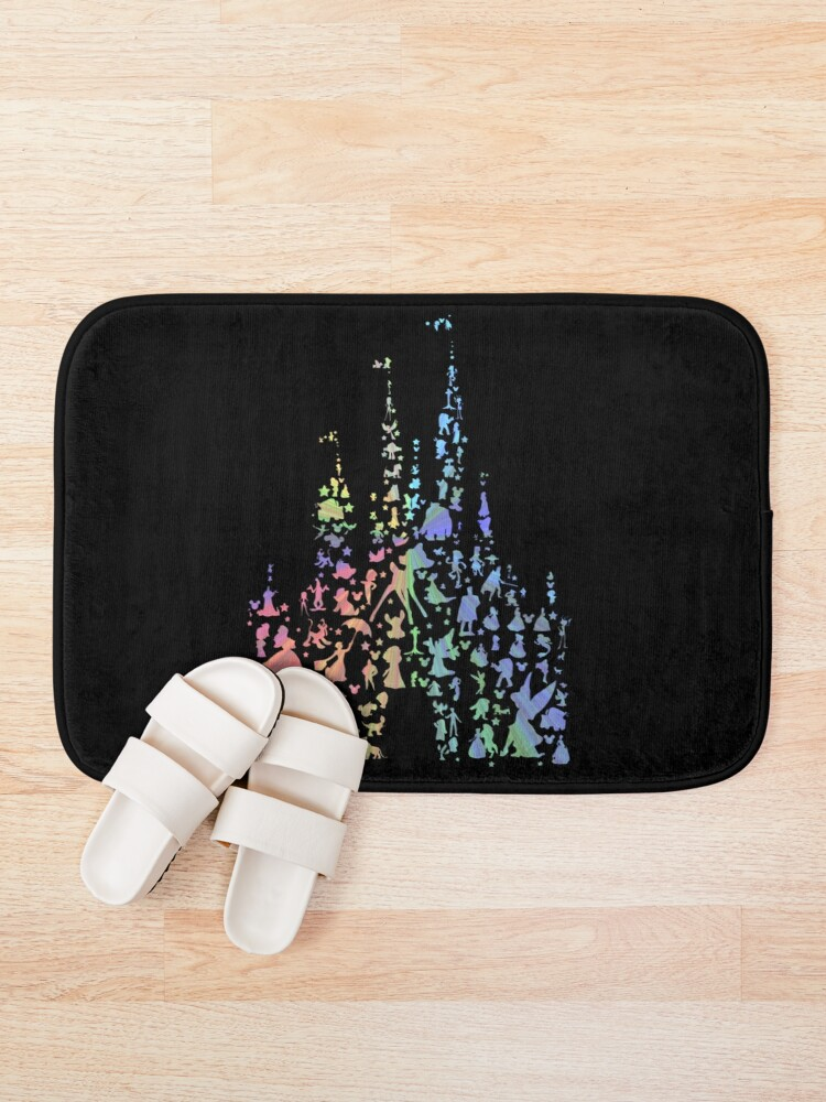 Alternate view of Happiest Castle On Earth (Rainbow Explosion) Bath Mat