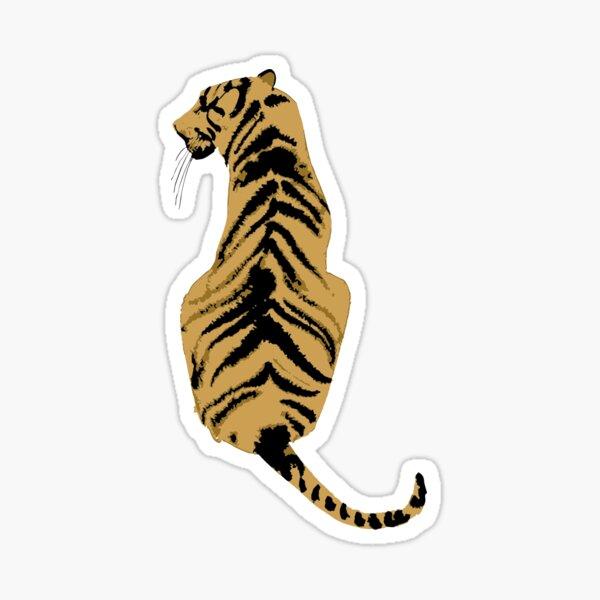 graphic back tiger Sticker