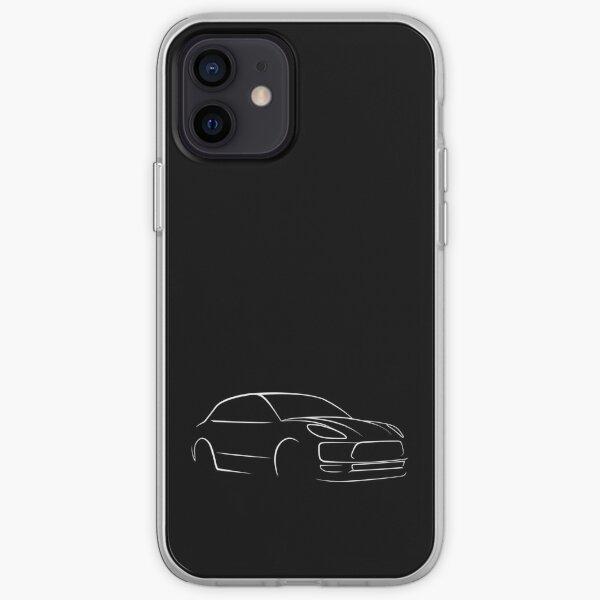Porsche Macan Entusiasta del coche de diseño Funda blanda para iPhone