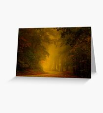 Mist of Autumn Greeting Card