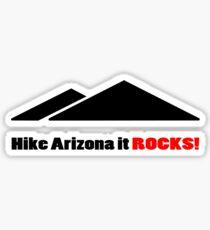 Hike arizona it rocks vi geek funny nerd Sticker