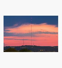 Mount Bonnell in Austin, Texas at Sunset Photographic Print