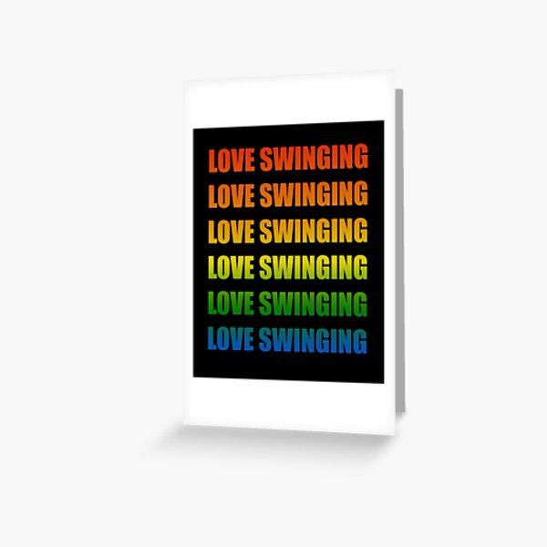 swinger outfit swinger urlaub swinger party Greeting Card