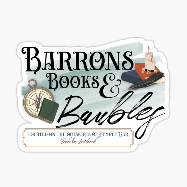 Barrons Books & Baubles Sticker