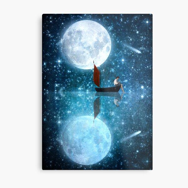 The Moon and Me v2 Metal Print
