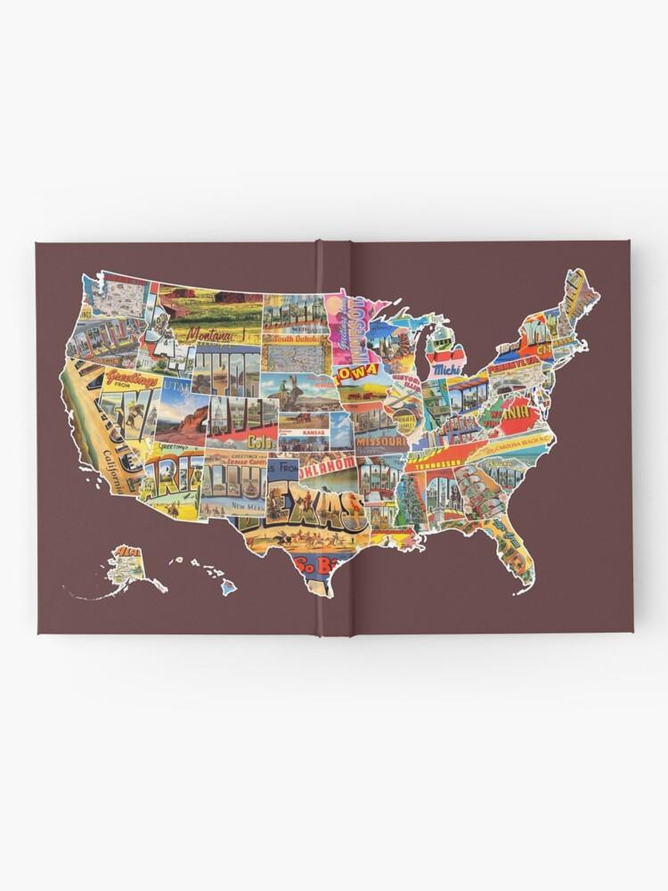 Postkarten Der Vereinigten Staaten Vintage Usa Alle 50 Staaten