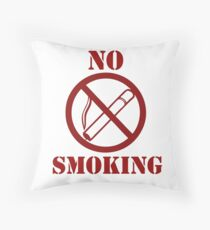 No smoking anti-smoking Throw Pillow