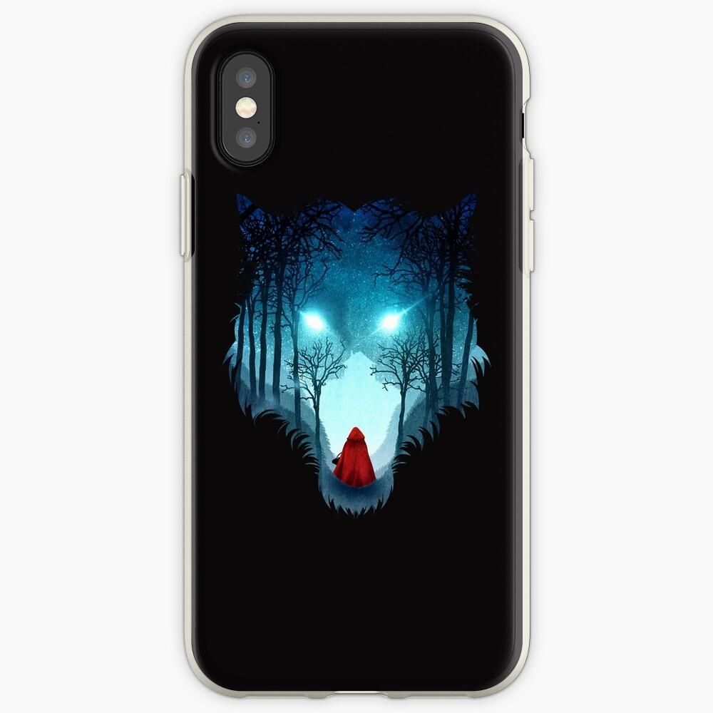 Großer böser Wolf (dunkle Version) iPhone-Hüllen & Cover