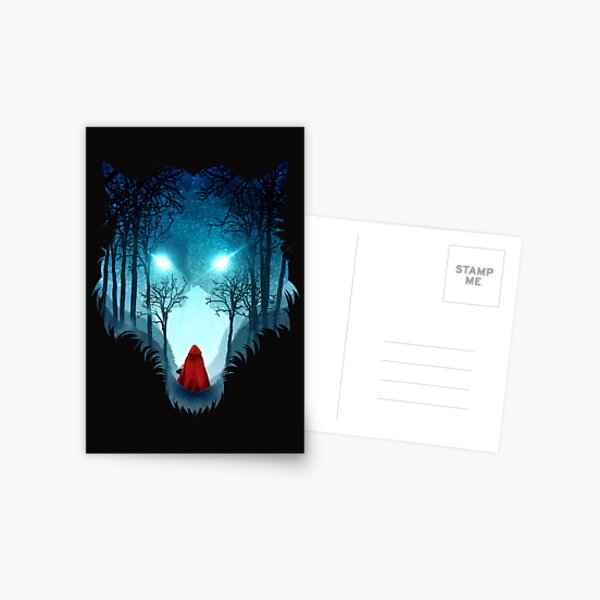 Big Bad Wolf (dark version) Postcard