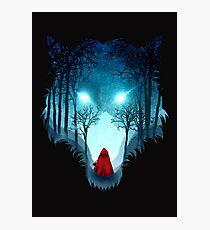 Großer böser Wolf (dunkle Version) Fotodruck