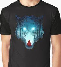 Großer böser Wolf (dunkle Version) Grafik T-Shirt
