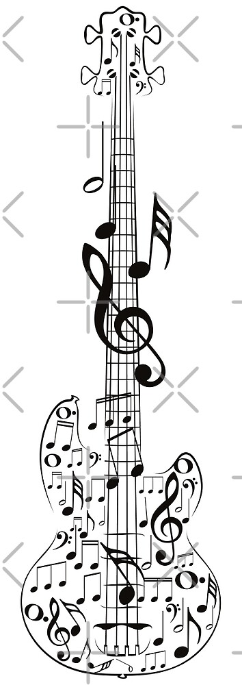 Gitarre und Musik Notes7 von AnnArtshock