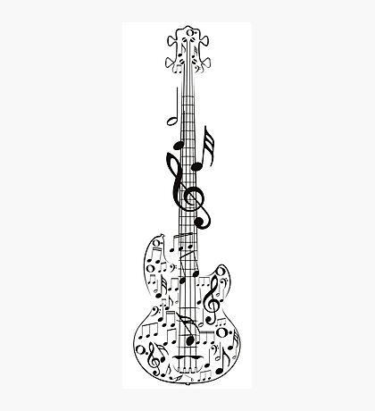 Gitarre und Musik Notes7 Fotodruck