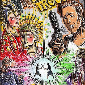 Big Trouble in Little China art jack burton john carpenter sci fi horror chinese japanese kung fu martial arts kurt russel storms girl by joebadon