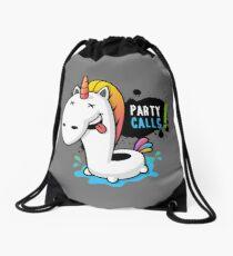 Party Calls Drawstring Bag