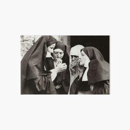 Nuns Smoking Art Board Print