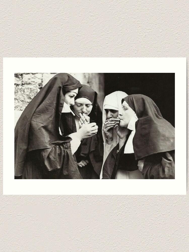Alternate view of Nuns Smoking Art Print