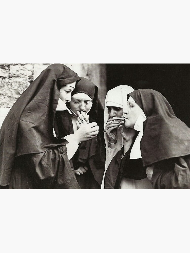 Nuns Smoking by historicalstuff