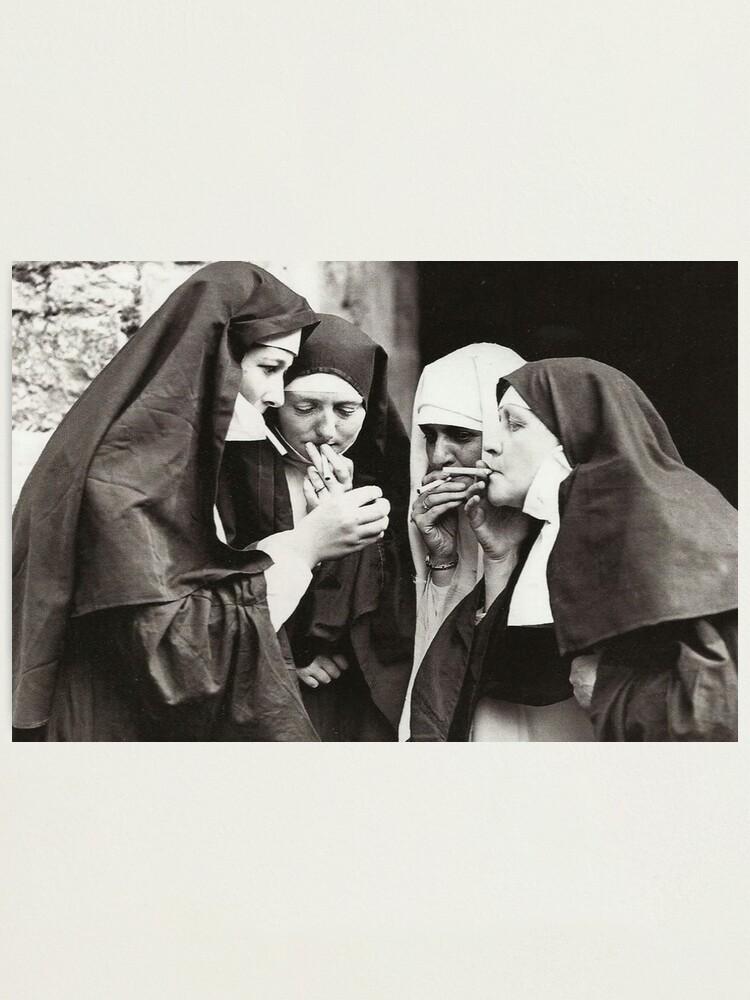 Alternate view of Nuns Smoking Photographic Print