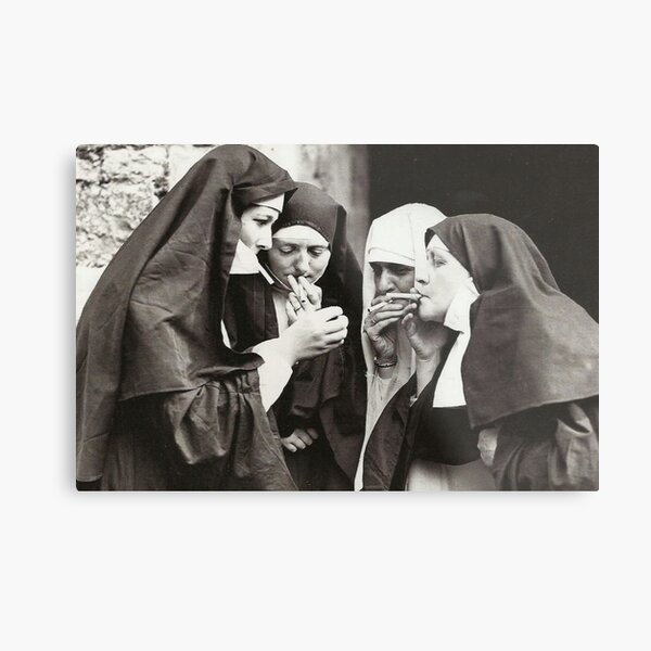 Nuns Smoking Metal Print