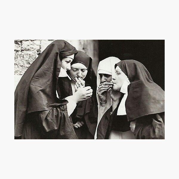 Nuns Smoking Photographic Print
