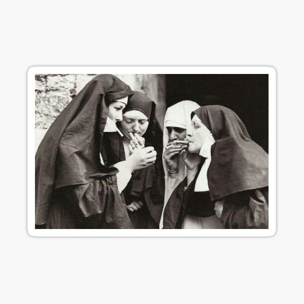 Nuns Smoking Sticker
