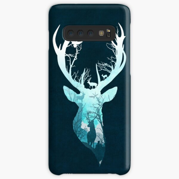 Deer Blue Winter Samsung Galaxy Snap Case