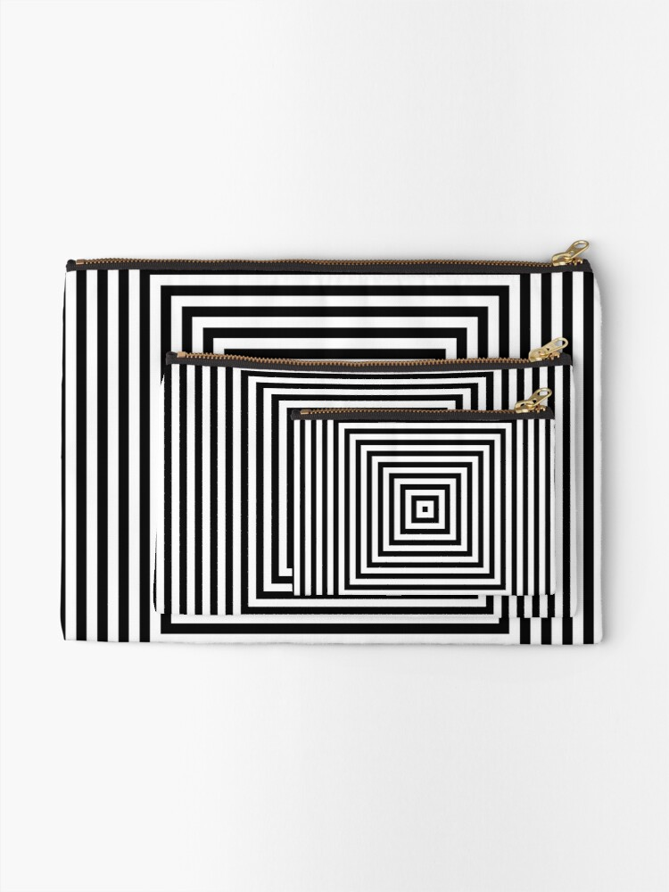 Alternate view of #Pattern, #design, #abstract, #art, illustration, square, illusion, paper, decoration Zipper Pouch