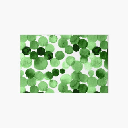 Watercolor Circles - Green Art Board Print