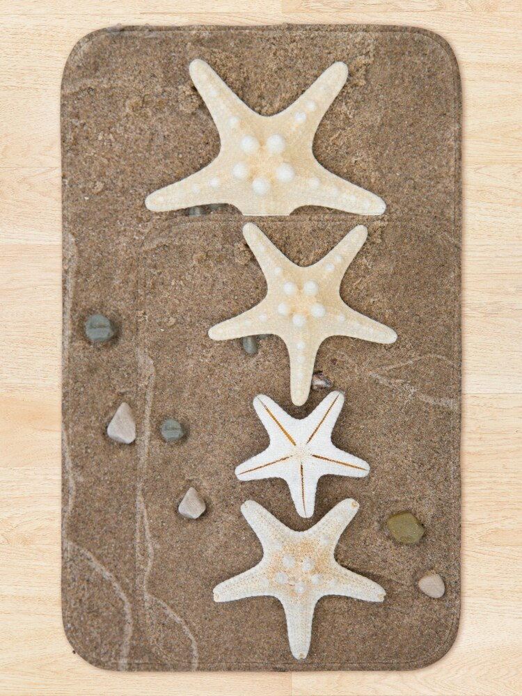 Alternate view of Starfish in the Sand Bath Mat