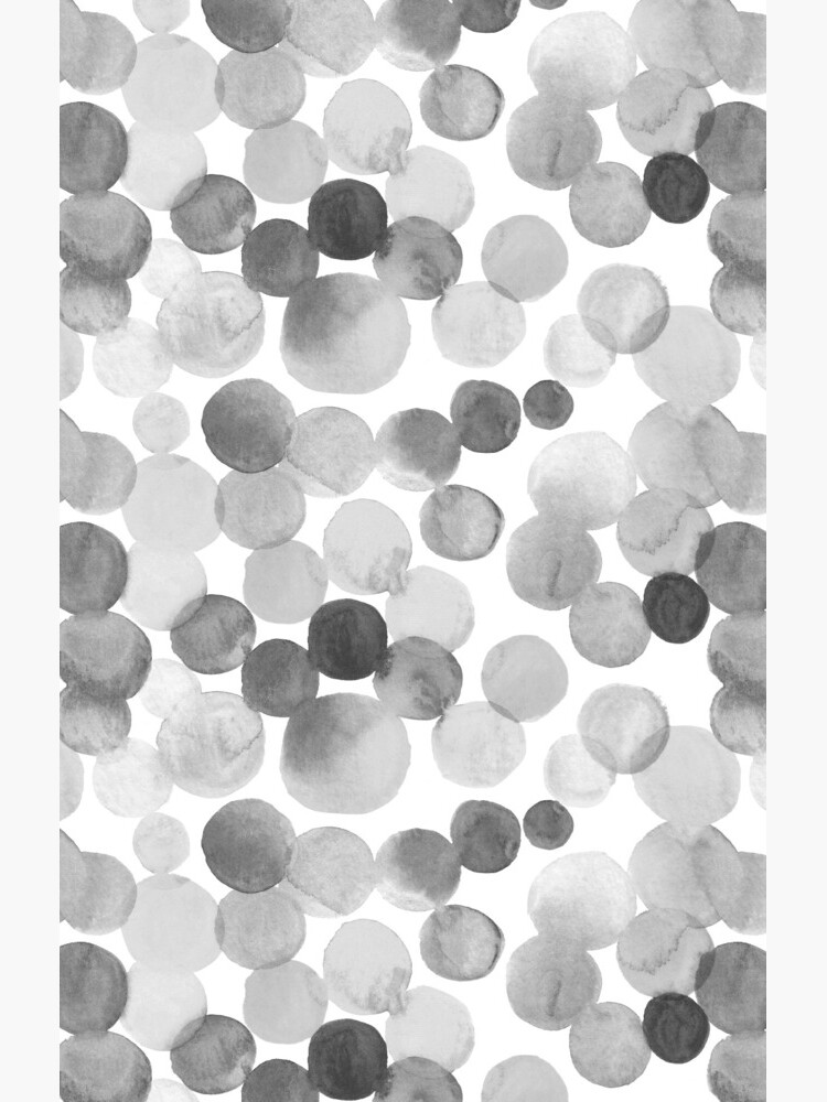 Watercolor Circles - Greyscale by annieparsons