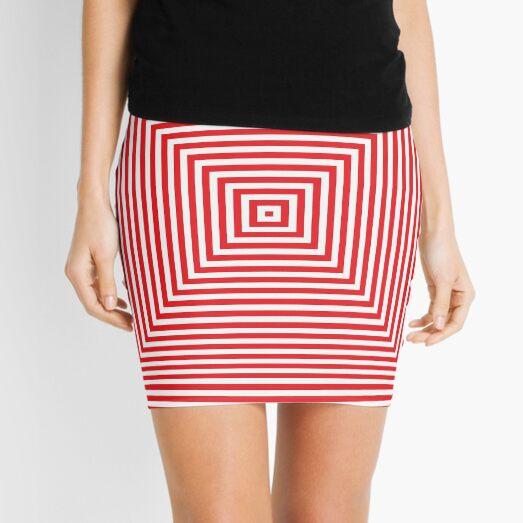 #Pattern, #design, #abstract, #art, illustration, square, illusion, paper, decoration Mini Skirt