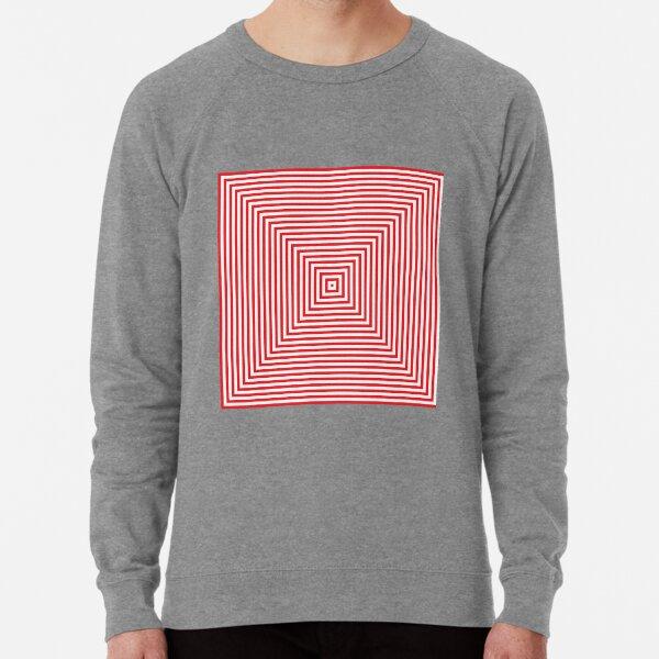 #Pattern, #design, #abstract, #art, illustration, square, illusion, paper, decoration Lightweight Sweatshirt