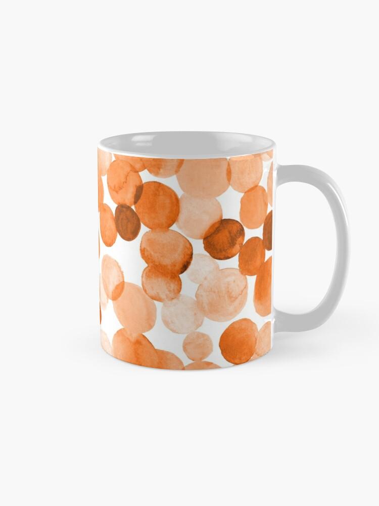 Alternate view of Watercolor Circles - Orange Mug