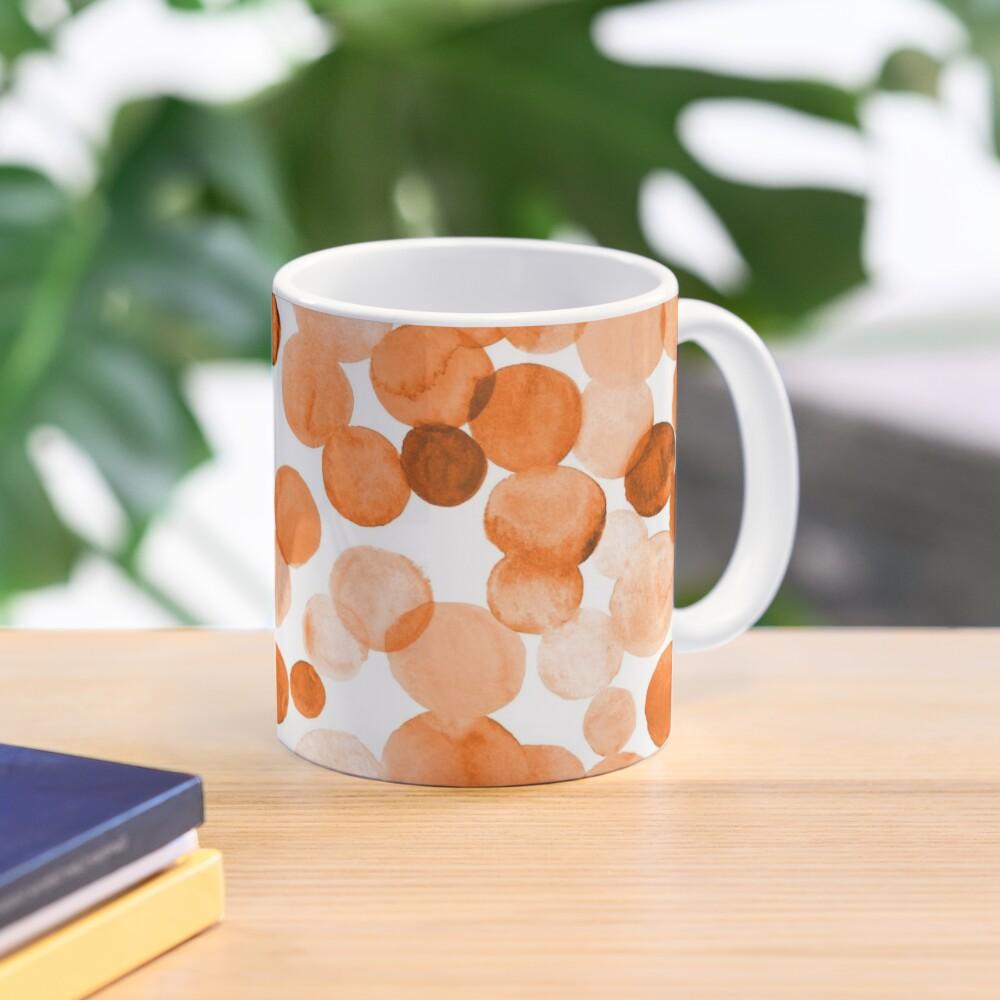 Watercolor Circles - Orange Mug