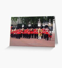 Irish Guards Marching Band Greeting Card