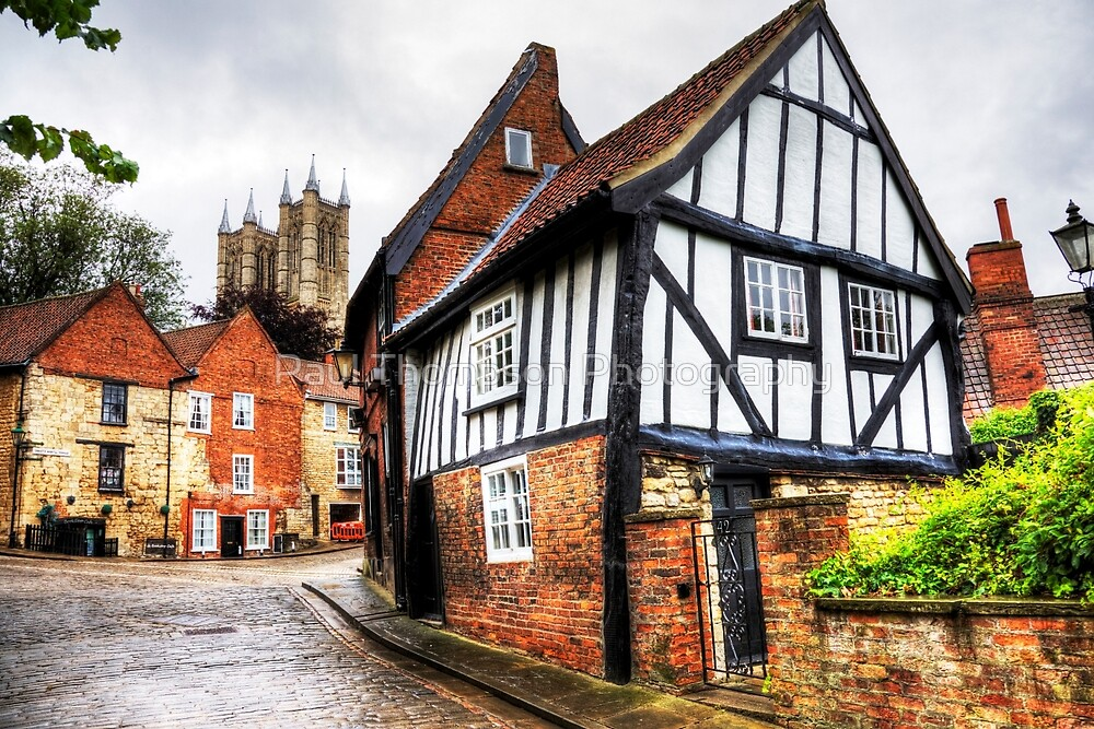 Lincoln Cathedral From Steep Hill  by Paul Thompson Photography